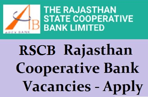 Rajasthan State Cooperative Bank jobs 2019