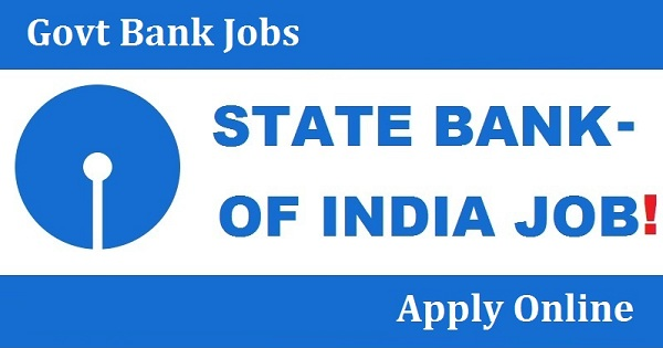 state bank of india govt jobs 2019