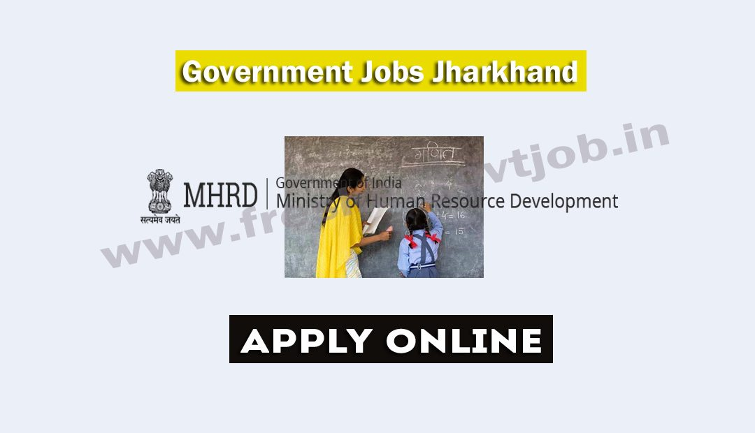 Government Jobs Jharkhand