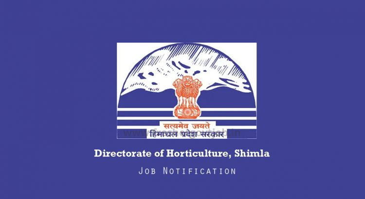 Directorate of Horticulture Jobs