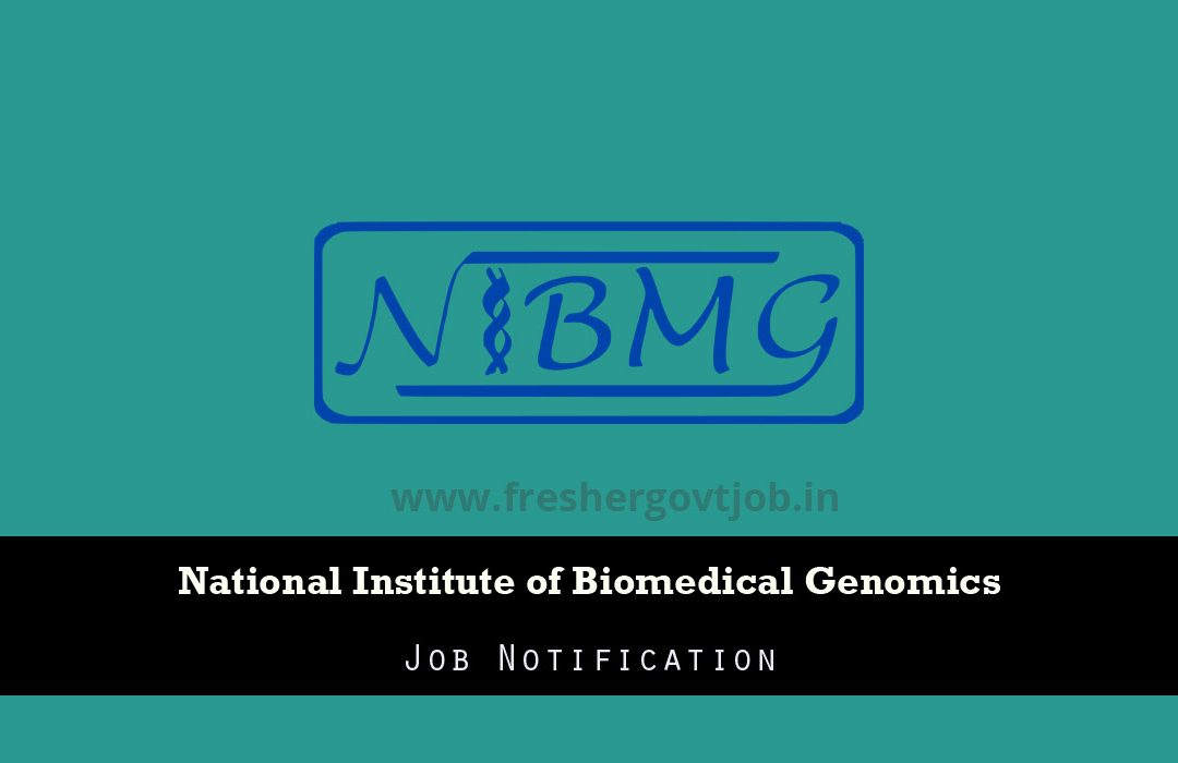 NIBMG Recruitment