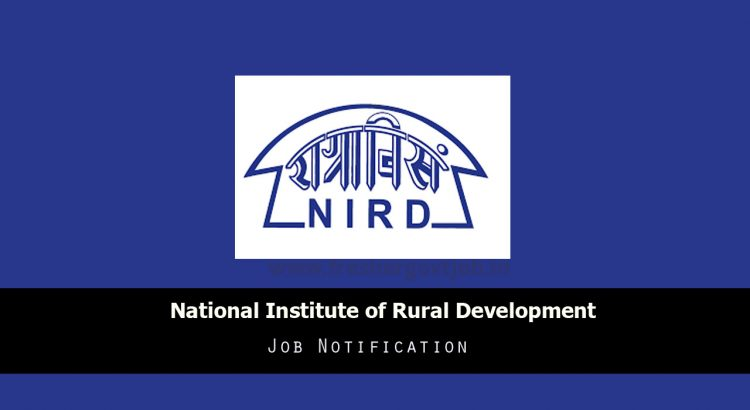 NIRDPR Recruitment