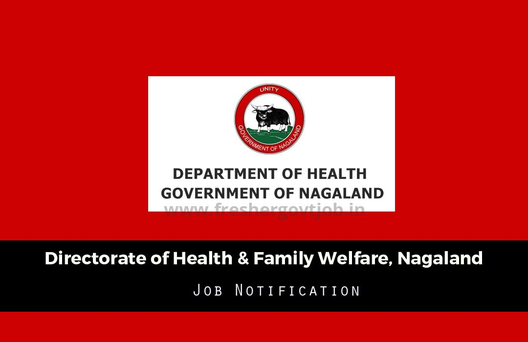 DHFW Nagaland Recruitment
